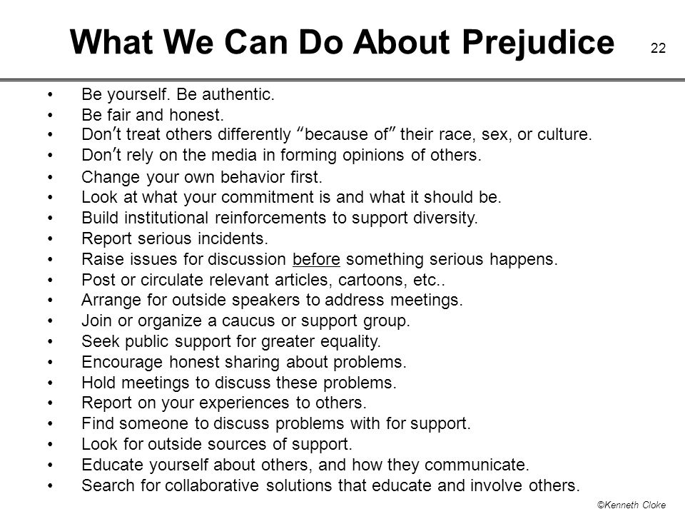 What We Can Do About Prejudice