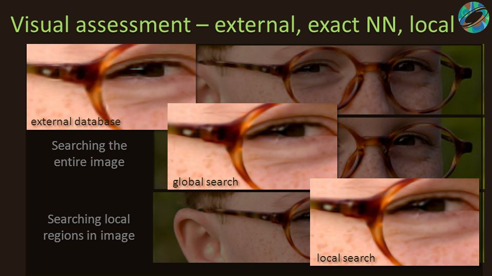 Visual assessment – external, exact NN, local