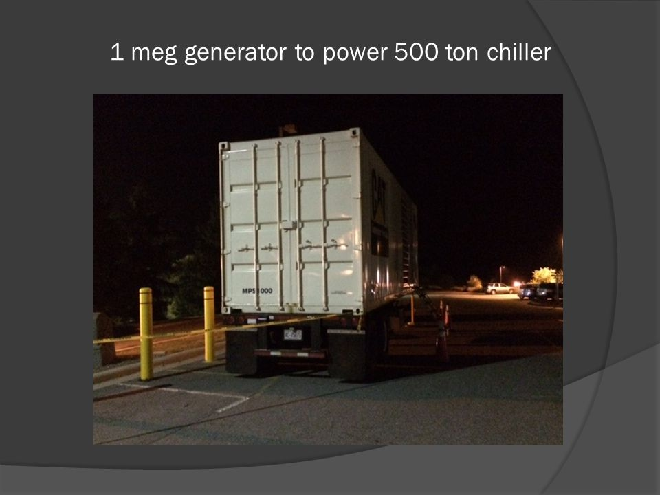 1 meg generator to power 500 ton chiller