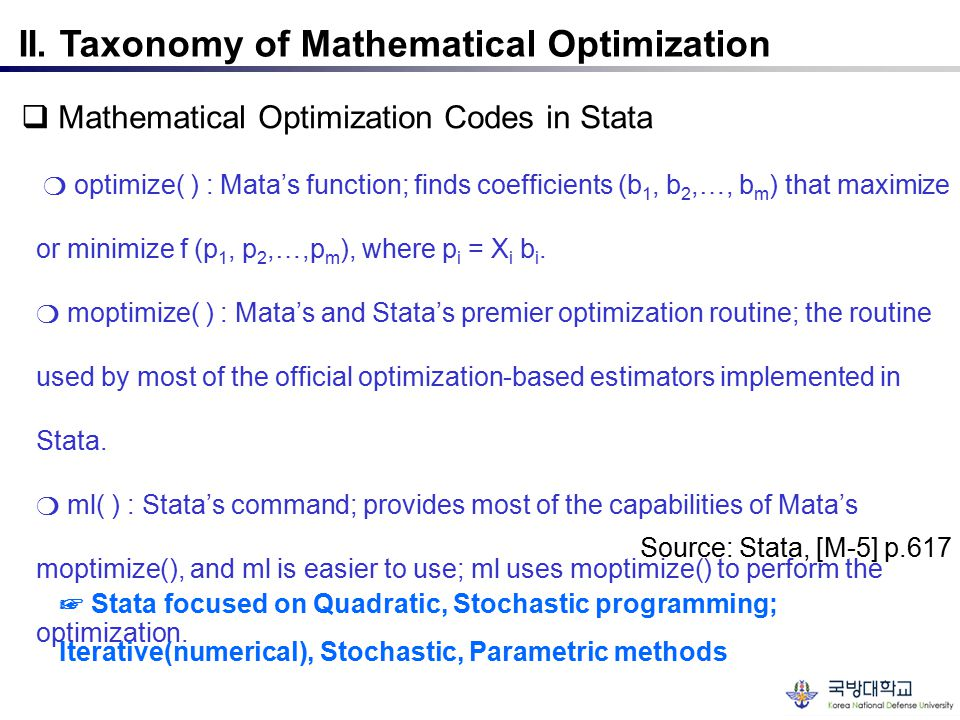 II. Taxonomy of Mathematical Optimization