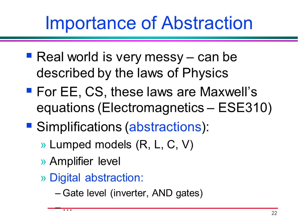 Importance of Abstraction