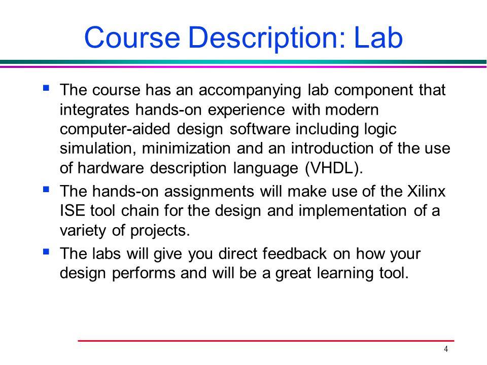 Course Description: Lab