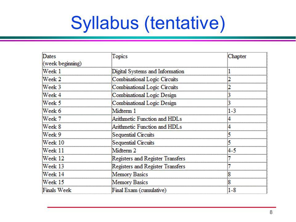 Syllabus (tentative)
