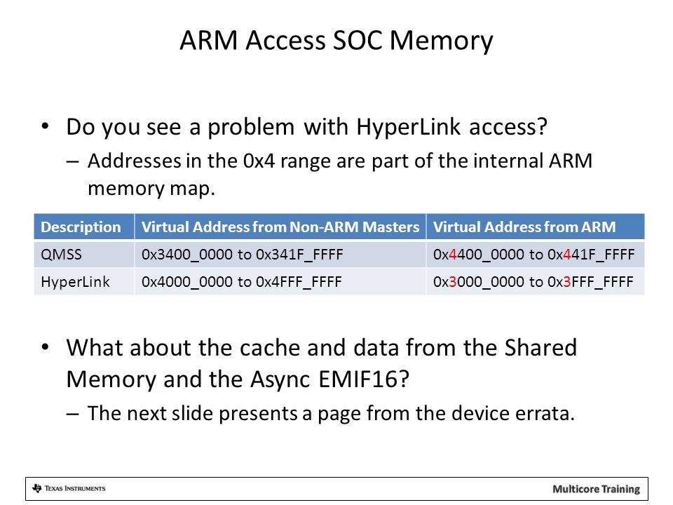 ARM Access SOC Memory Do you see a problem with HyperLink access