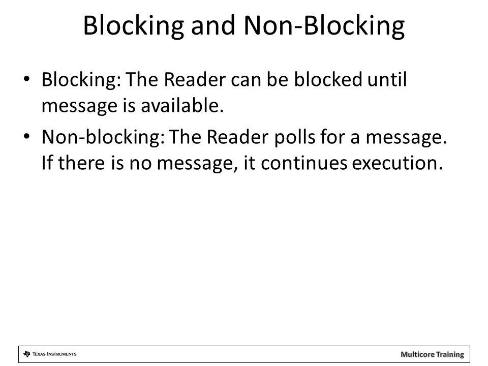 Blocking and Non-Blocking