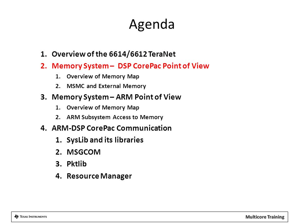 Agenda Overview of the 6614/6612 TeraNet