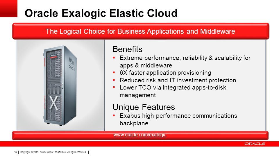 Oracle Exalogic Elastic Cloud
