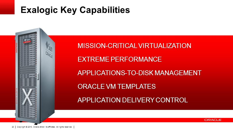 Exalogic Key Capabilities