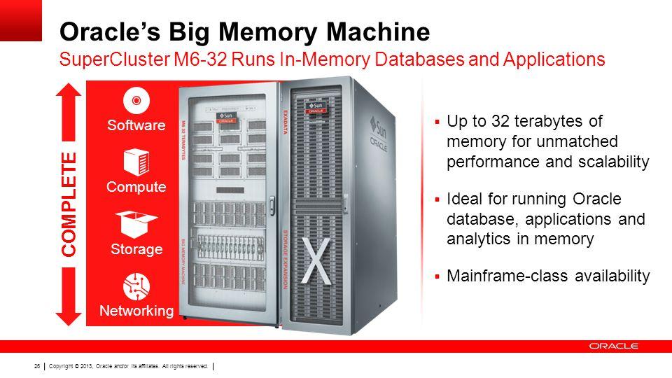 Oracle's Big Memory Machine