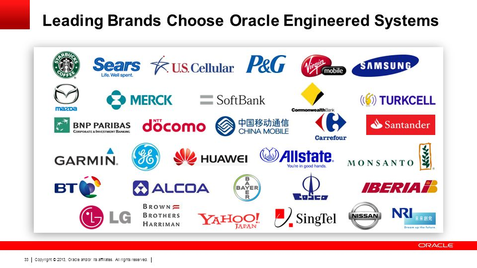 Leading Brands Choose Oracle Engineered Systems
