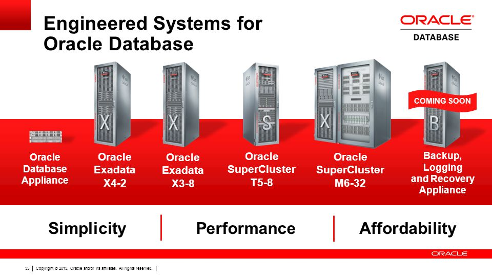 Engineered Systems for Oracle Database