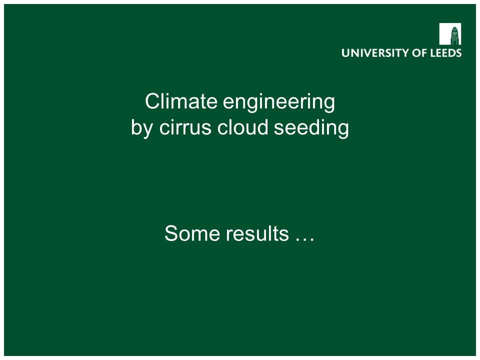 by cirrus cloud seeding