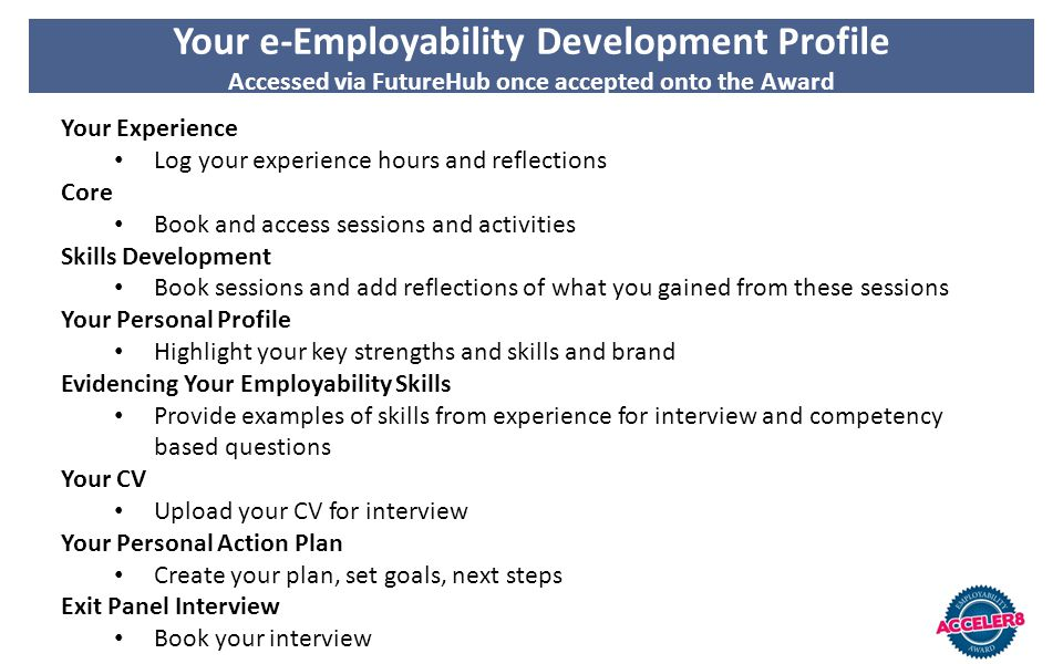 Your e-Employability Development Profile