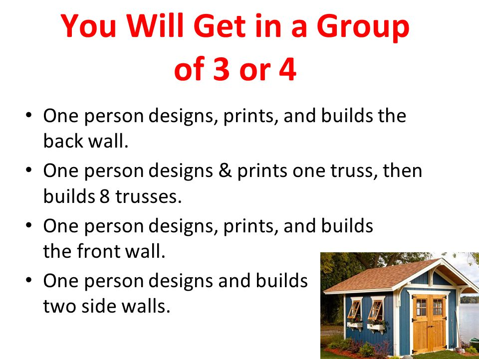 You Will Get in a Group of 3 or 4
