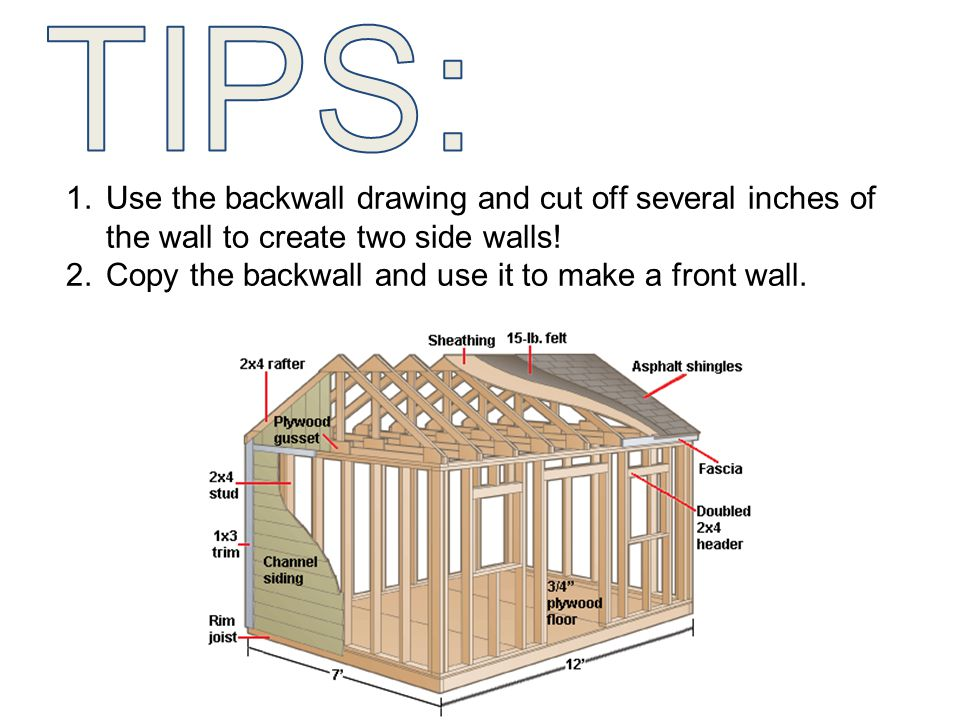 Copy the backwall and use it to make a front wall.