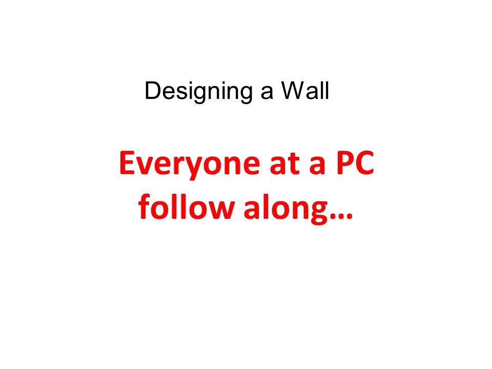 Everyone at a PC follow along…