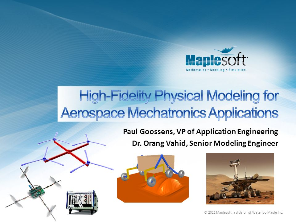 High-Fidelity Physical Modeling for Aerospace Mechatronics Applications