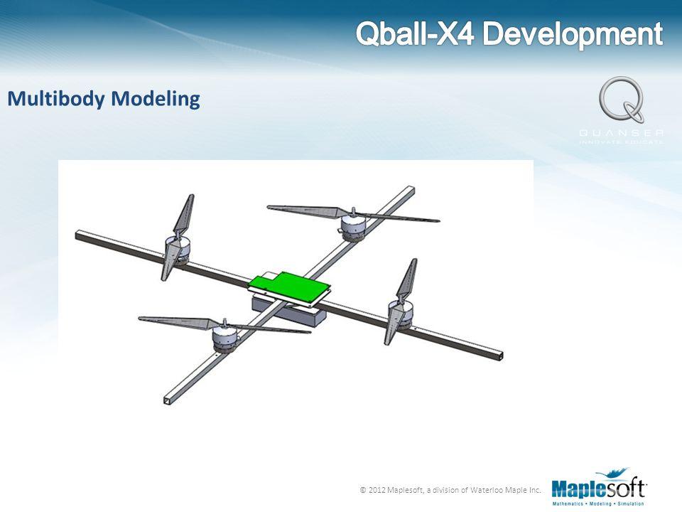 Qball-X4 Development Multibody Modeling