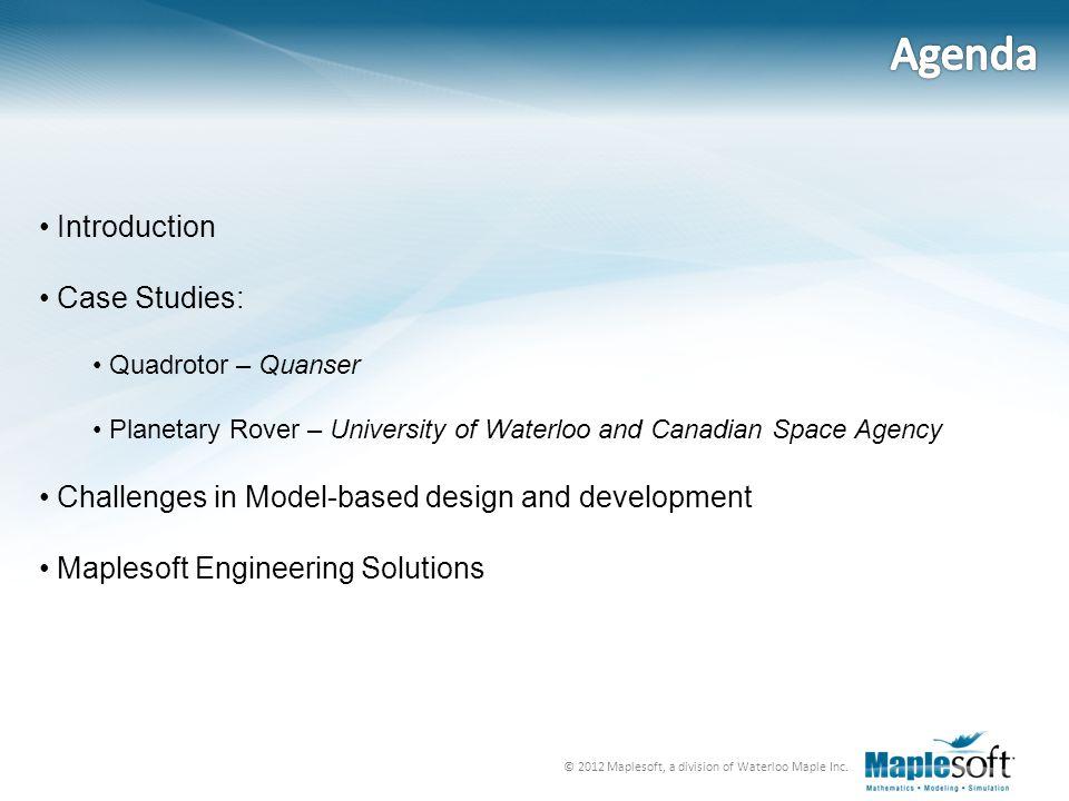 Agenda Introduction Case Studies: