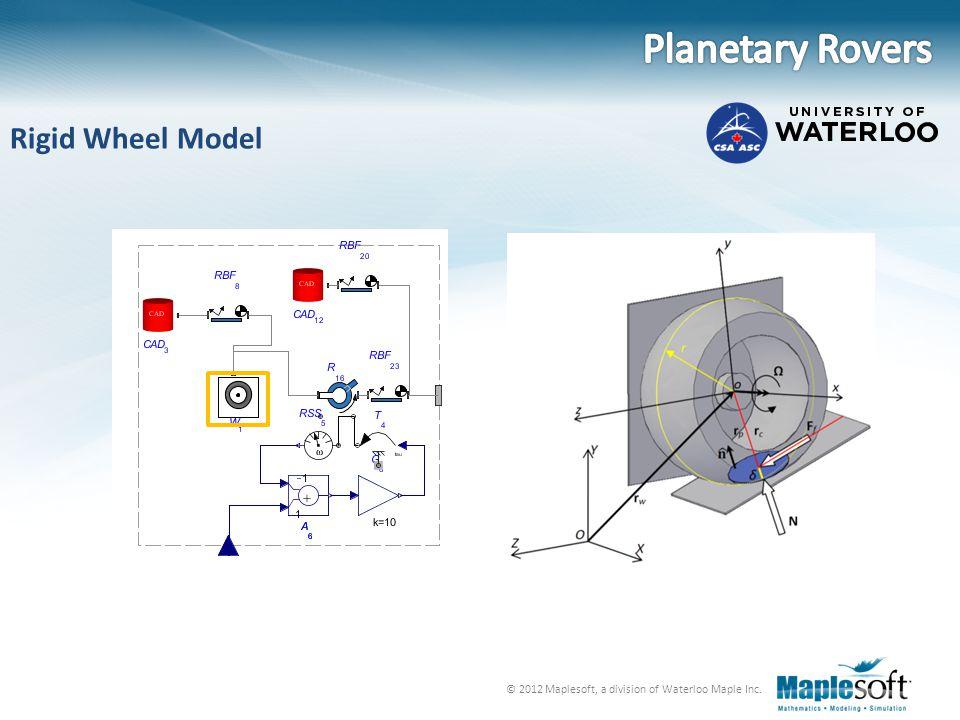 Planetary Rovers Rigid Wheel Model
