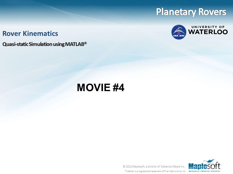 Planetary Rovers MOVIE #4 Rover Kinematics