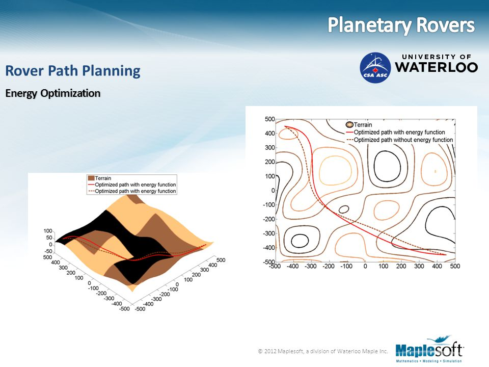 Planetary Rovers Rover Path Planning Energy Optimization