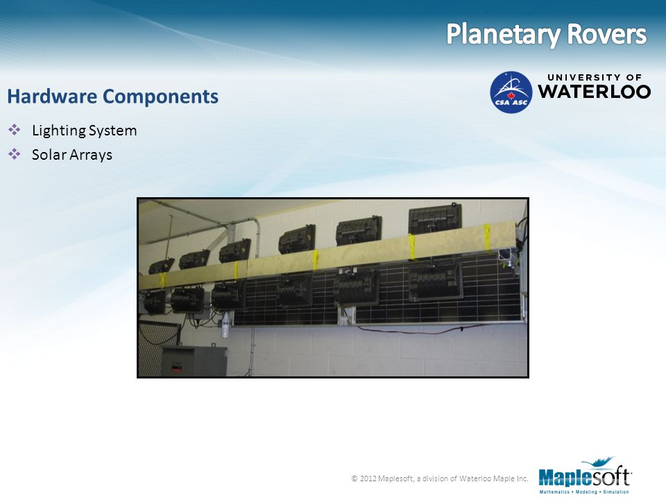 Planetary Rovers Hardware Components Lighting System Solar Arrays