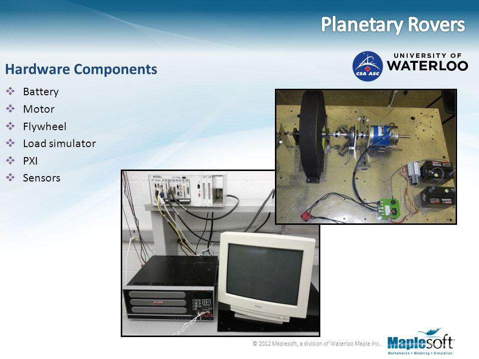 Planetary Rovers Hardware Components Battery Motor Flywheel