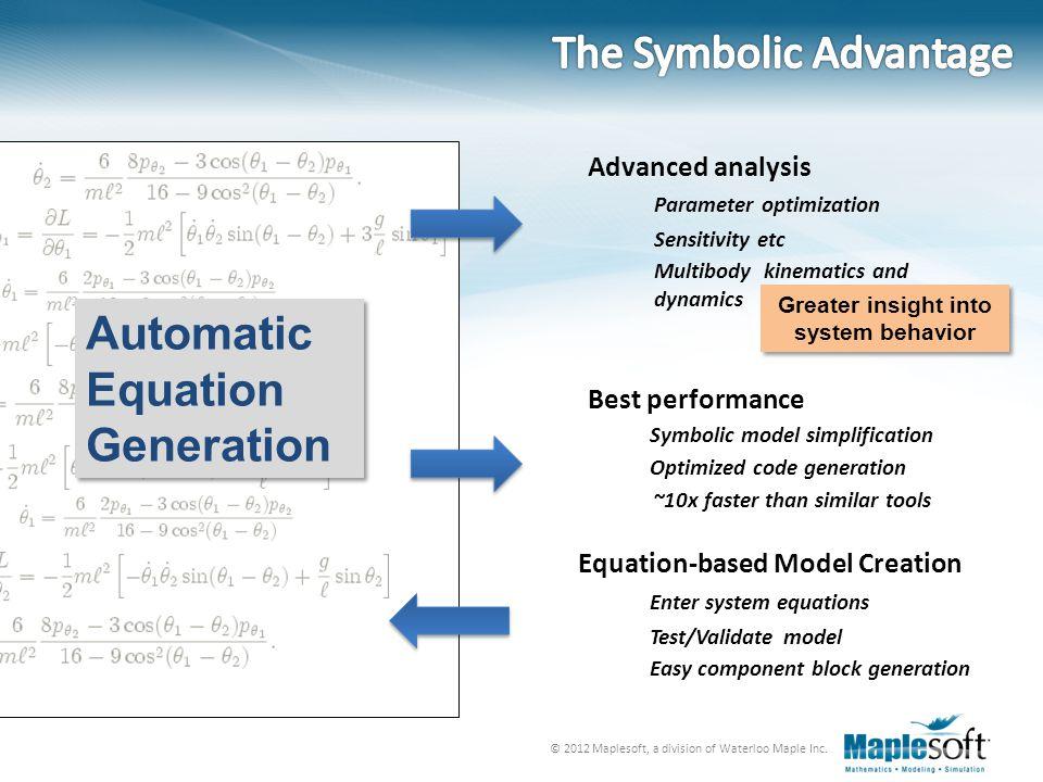 The Symbolic Advantage
