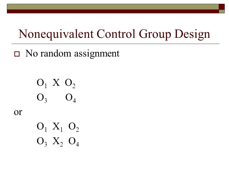 Nonequivalent Control Group Design
