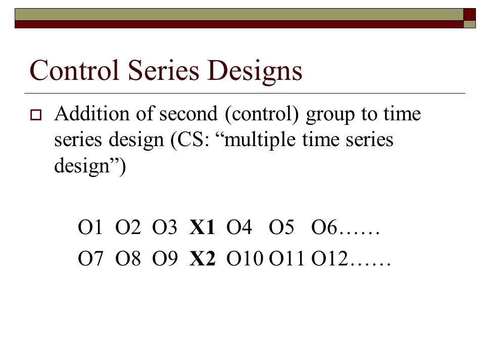 Control Series Designs