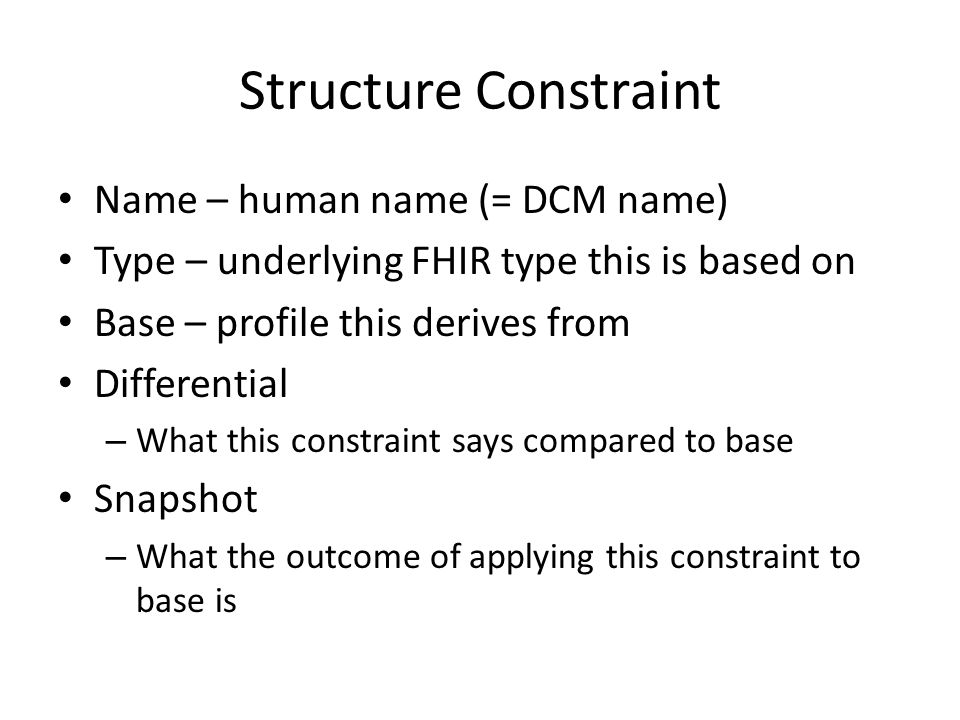 Structure Constraint Name – human name (= DCM name)