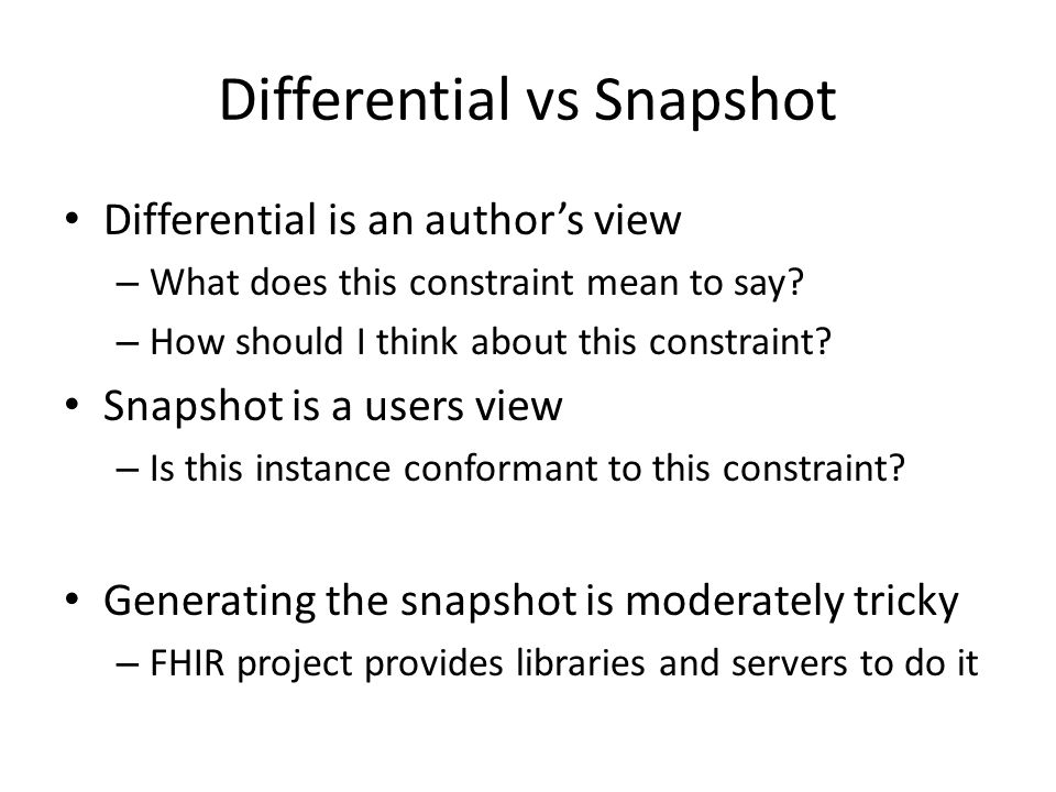 Differential vs Snapshot