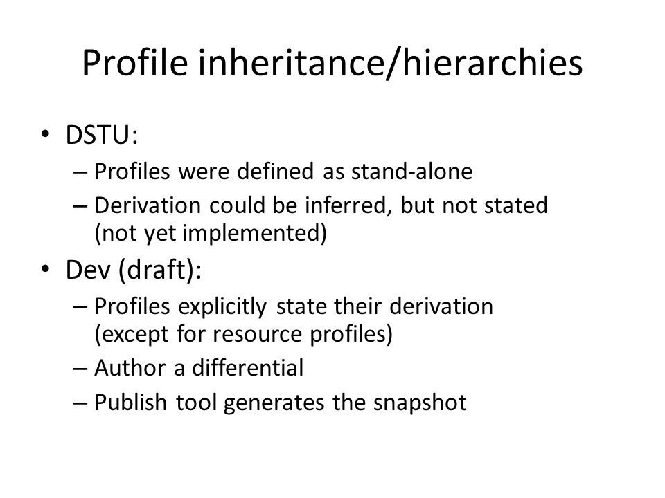 Profile inheritance/hierarchies