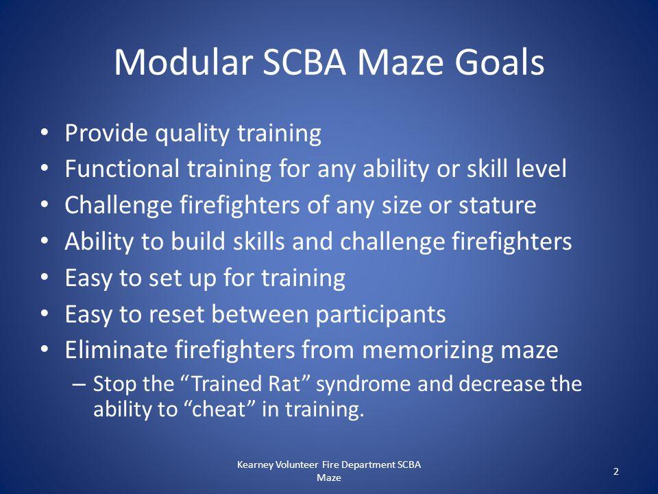 Modular SCBA Maze Goals