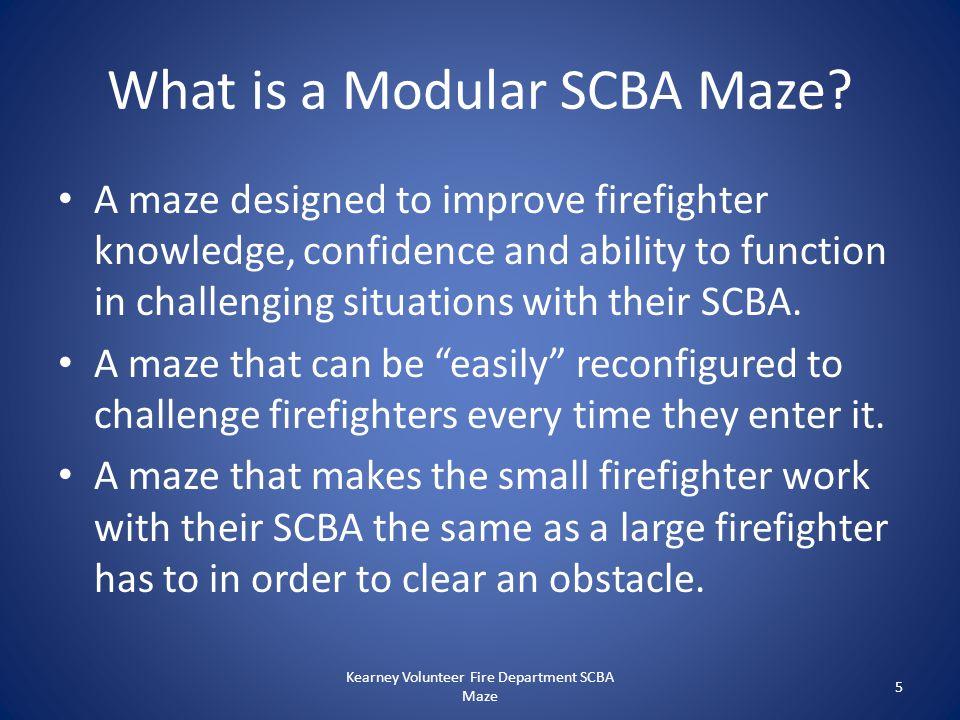 What is a Modular SCBA Maze