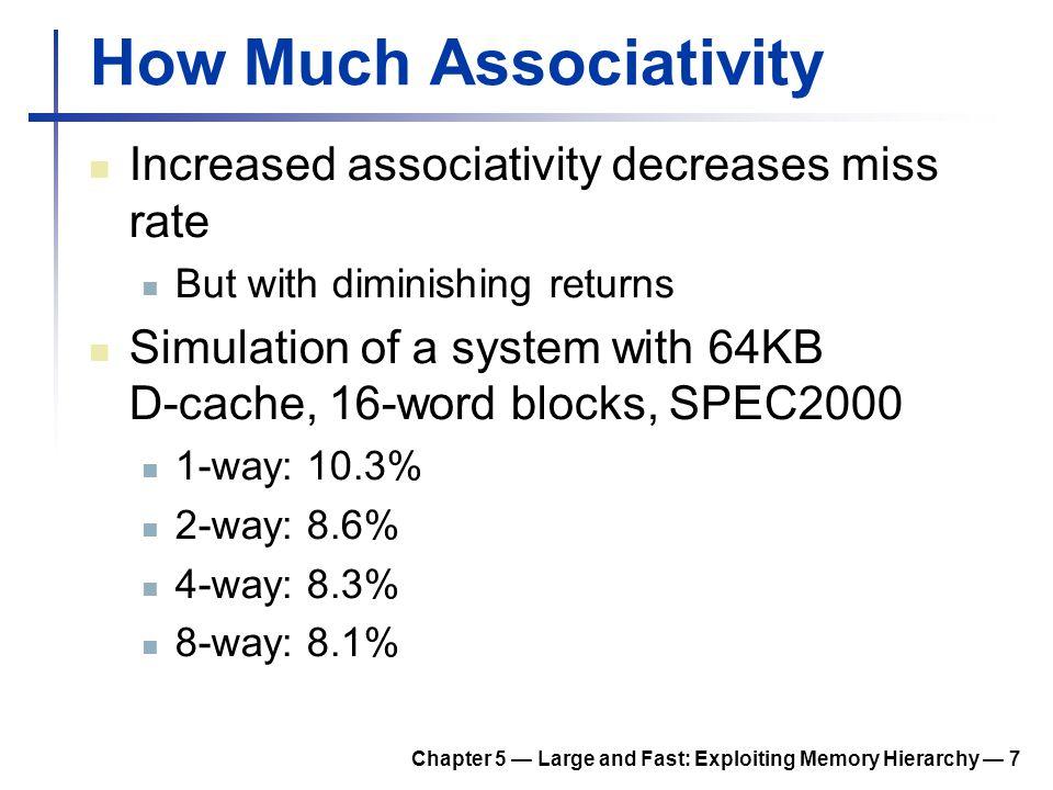 How Much Associativity
