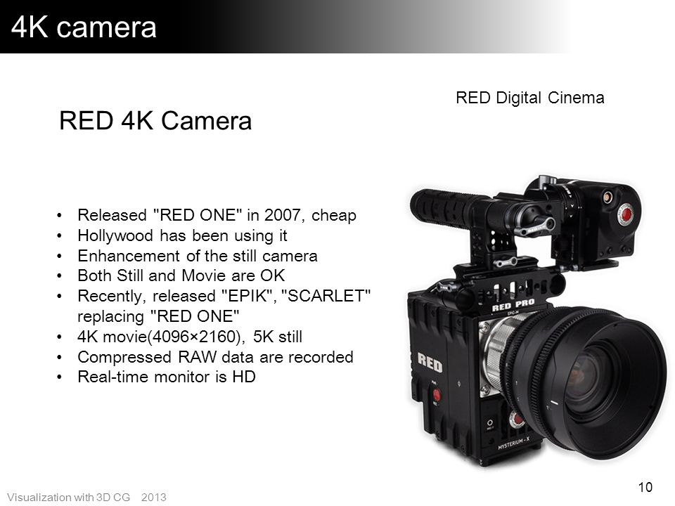 4K camera RED 4K Camera RED Digital Cinema