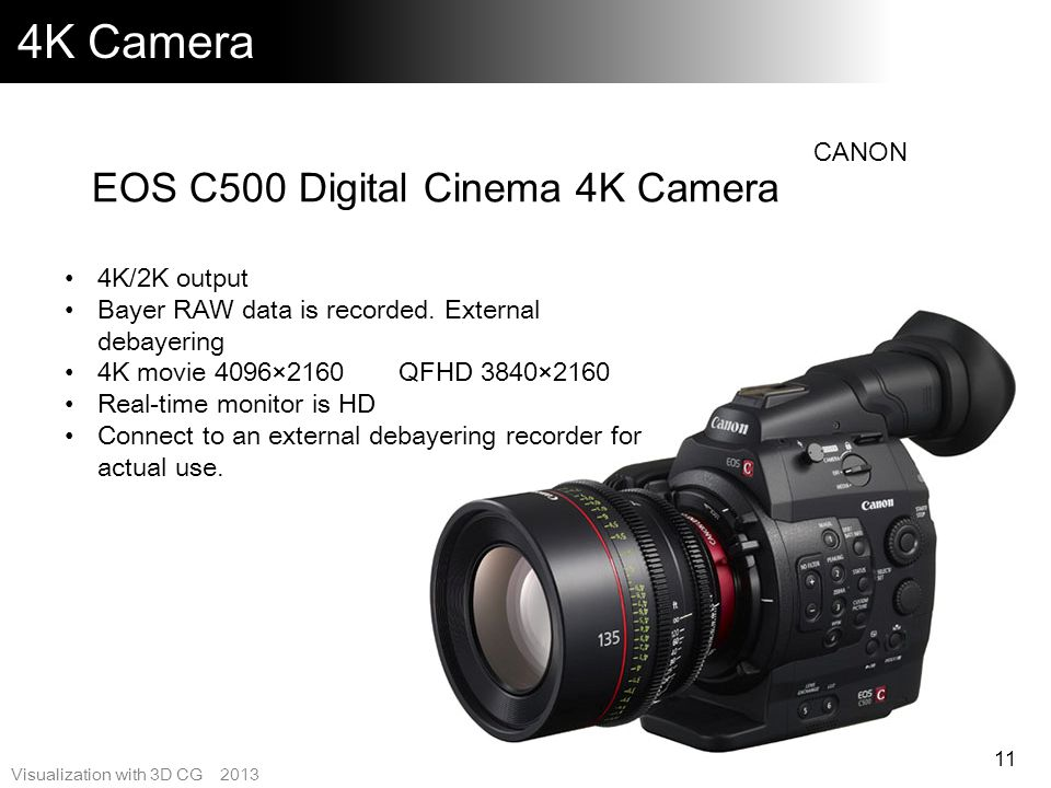 4K Camera EOS C500 Digital Cinema 4K Camera CANON 4K/2K output