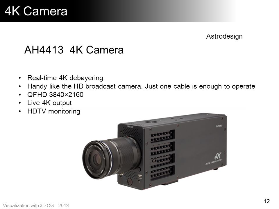 4K Camera AH4413 4K Camera Astrodesign Real-time 4K debayering