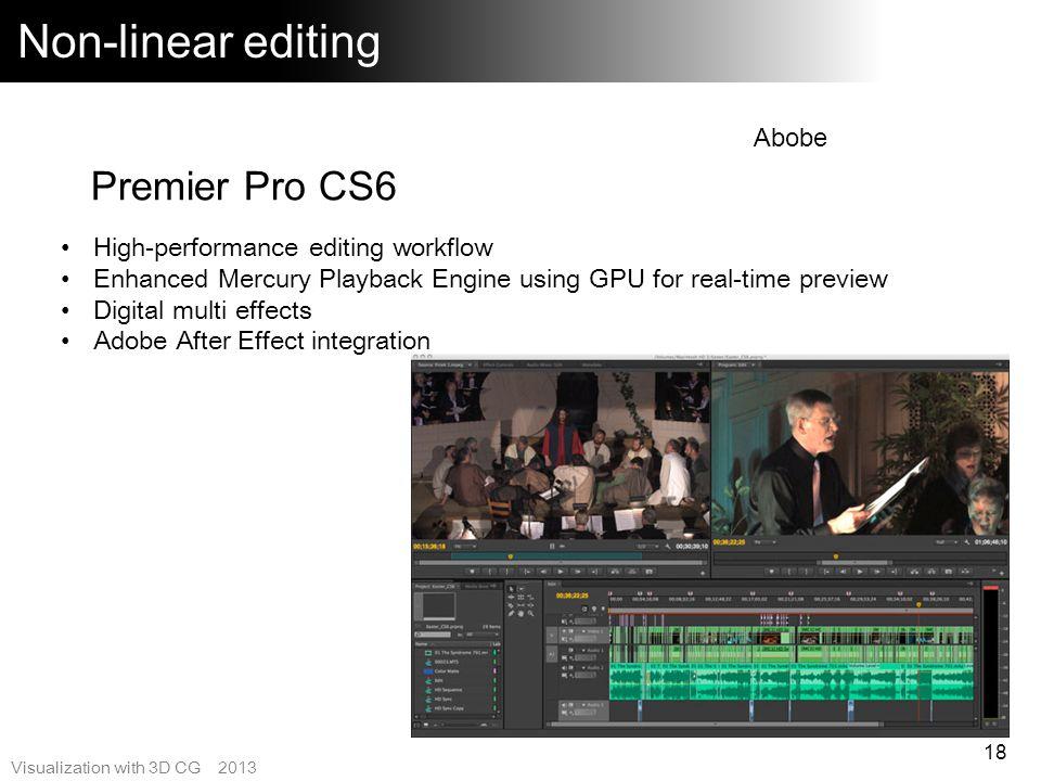 Non-linear editing Premier Pro CS6 Abobe
