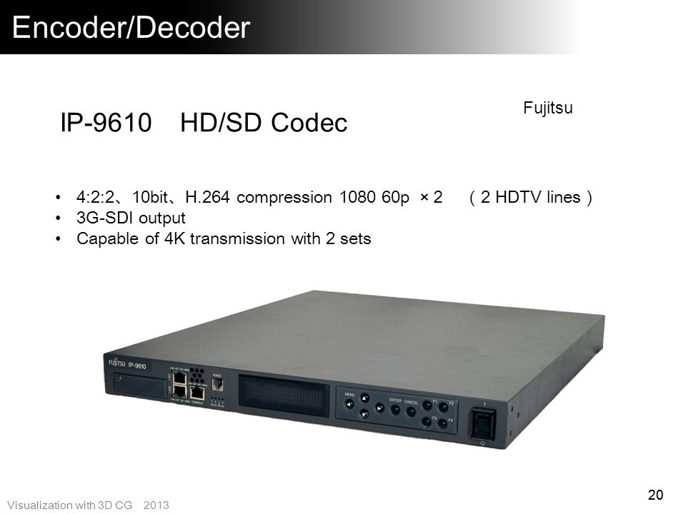 Encoder/Decoder IP-9610 HD/SD Codec Fujitsu
