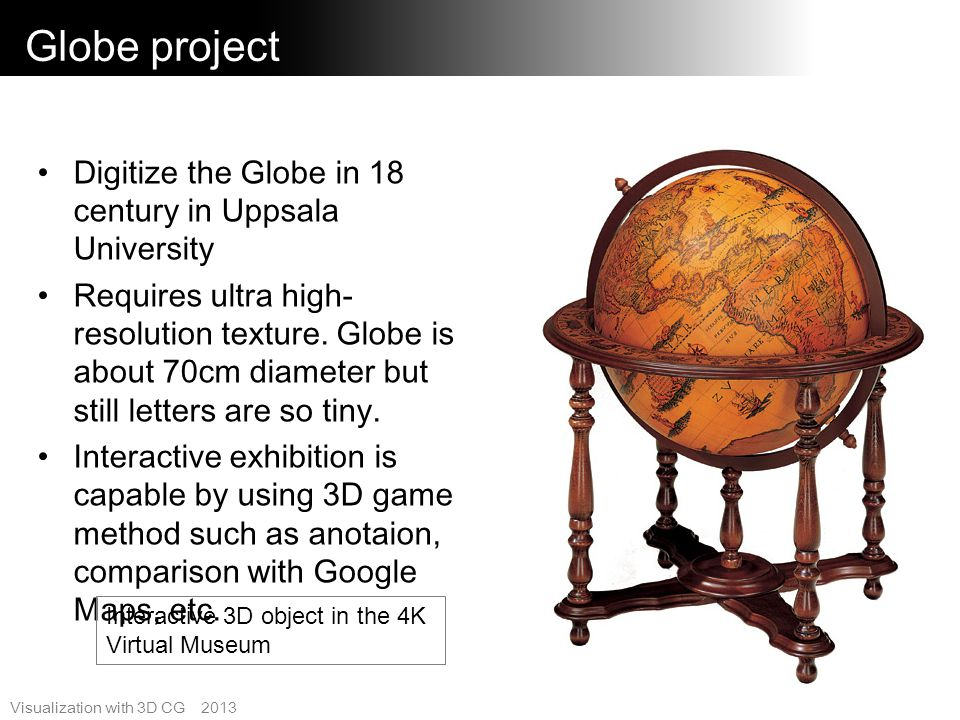 Globe project Digitize the Globe in 18 century in Uppsala University