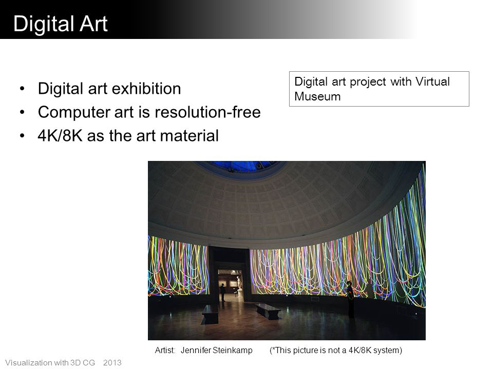 Digital Art Digital art exhibition Computer art is resolution-free