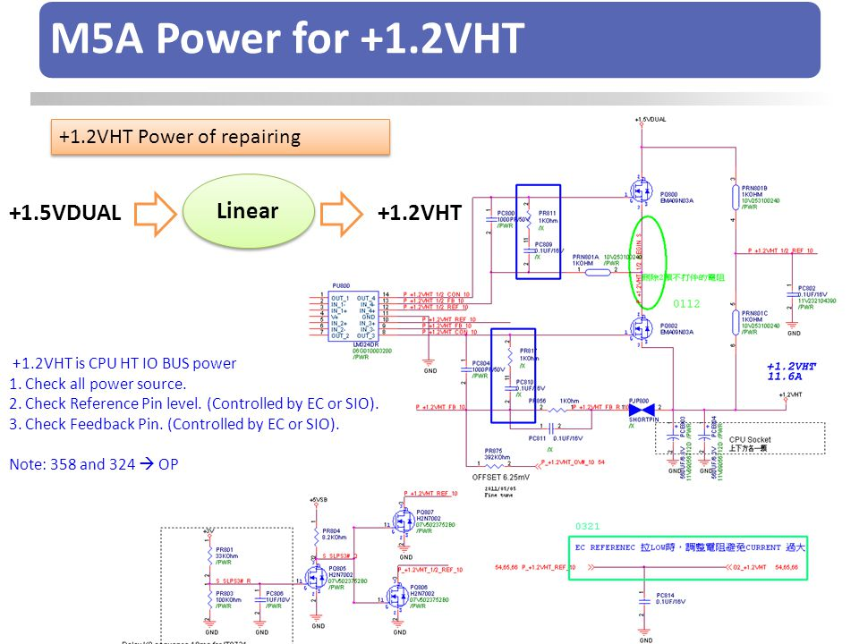 M5A Power for +1.2VHT Linear +1.5VDUAL +1.2VHT