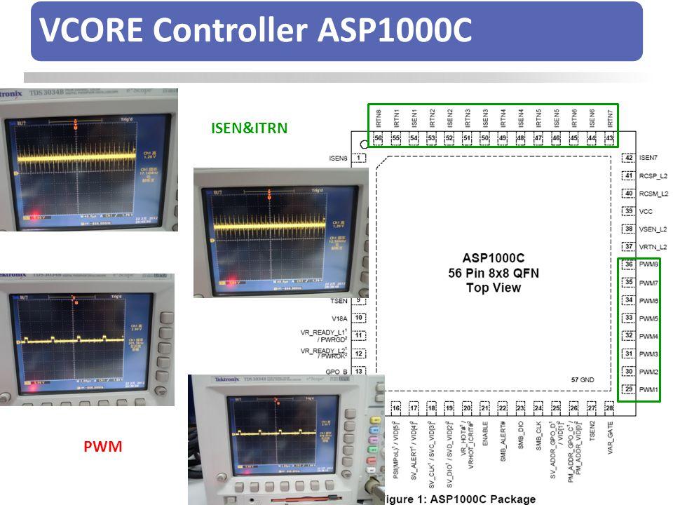 VCORE Controller ASP1000C ISEN&ITRN PWM