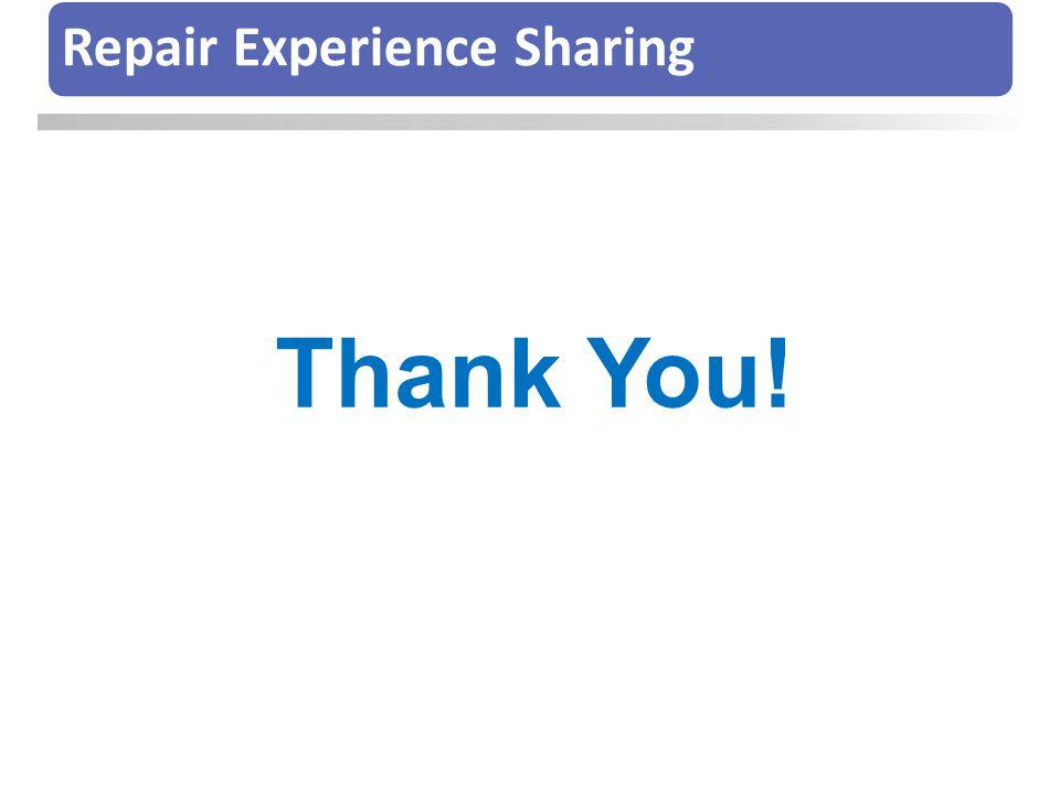Repair Experience Sharing