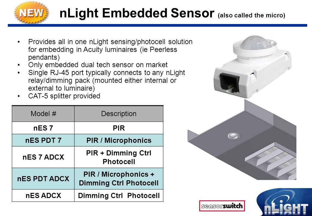 nLight Embedded Sensor (also called the micro)