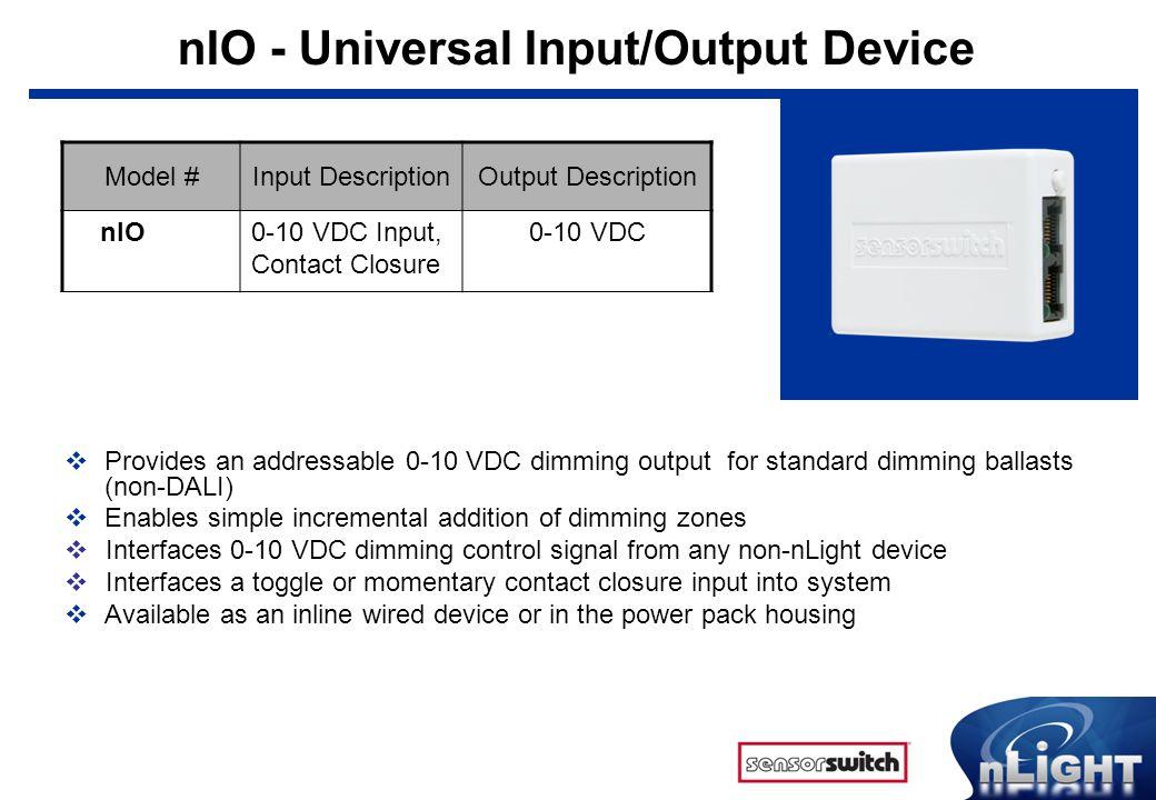 nIO - Universal Input/Output Device