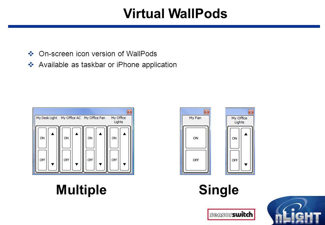 Virtual WallPods Multiple Single